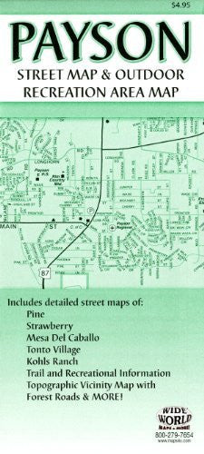 Payson Street Map & Outdoor Recreation Area Map