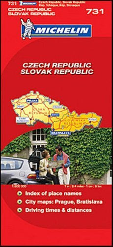 Michelin Road Map No. 731 Czech Republic, Slovak Republic, Scale 1:600,000
