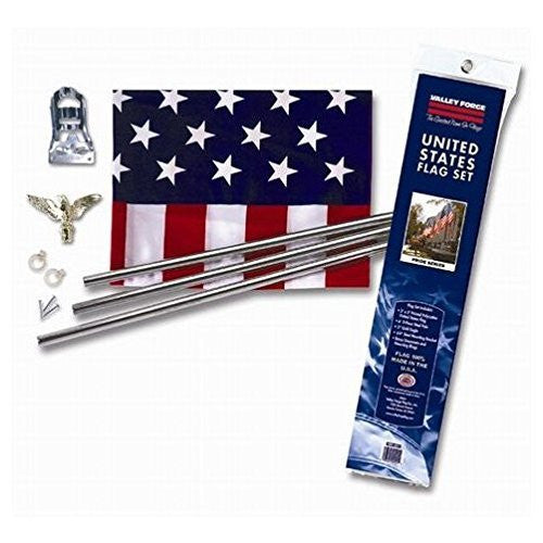 Polyester and Cotton U.S. Flag Kit - Wide World Maps & MORE! - Lawn & Patio - Unknown - Wide World Maps & MORE!