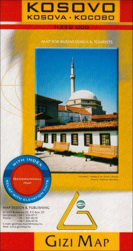 Kosovo 1:250,000 Geographical Travel Map, Gizi (English and French Edition)