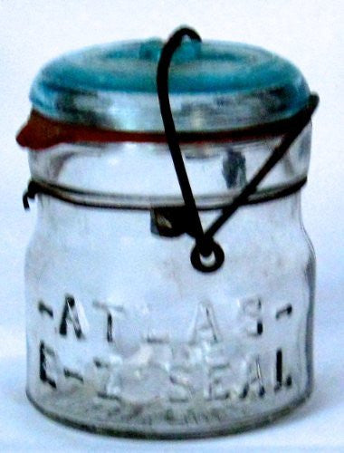 Vintage Atlas E-Z Seal Jar with Wire Bail and Glass Jar Lid