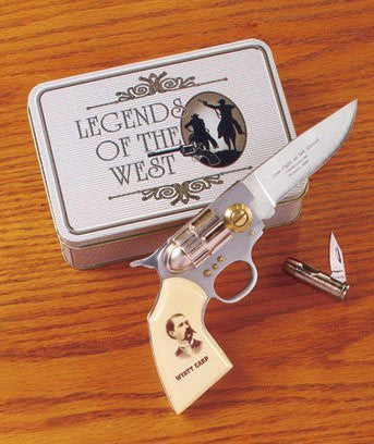 Wyatt Earp Legends of the West Gun Knife Set