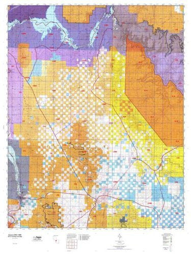 Arizona 15BE Hunt Area / Game Management Units (GMU) Map