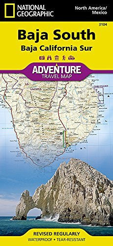 us topo - Baja South: Baja California Sur [Mexico] (National Geographic Adventure Map) - Wide World Maps & MORE! - Book - National Geographic Maps - Wide World Maps & MORE!
