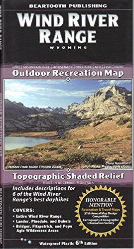Wind River Range Outdoor Recreation Map Topographic Shaded Relief - Wide World Maps & MORE! - Book - Wide World Maps & MORE! - Wide World Maps & MORE!