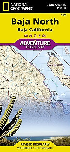 us topo - Baja North: Baja California [Mexico] (National Geographic Adventure Map) - Wide World Maps & MORE! - Book - National Geographic - Wide World Maps & MORE!
