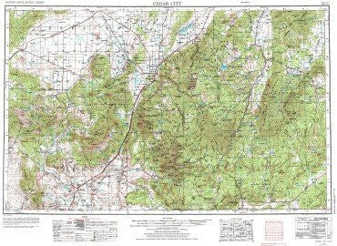 us topo - Cedar City, UT - Wide World Maps & MORE! - Book - Wide World Maps & MORE! - Wide World Maps & MORE!