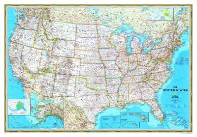 us topo - United States Classic Political Wall Map - Wide World Maps & MORE! - Home - National Geographic - Wide World Maps & MORE!