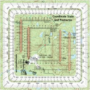 us topo - Improved Military Style MGRS/UTM Coordinate Grid Reader, and Protractor - Wide World Maps & MORE! - Home Improvement - MapTools - Wide World Maps & MORE!