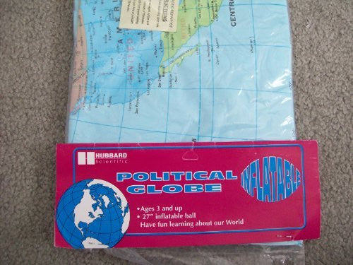 "us topo - Hubbard Scientific Political Globe 27"" Inflatable Ball - Wide World Maps & MORE! - Office Product - Hubbard Scientific - Wide World Maps & MORE!"