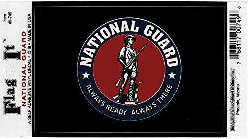 National Guard Seal decal for auto, truck or boat