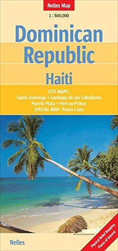 Dominican Republic/Haiti 1:600 000 Nelles Map (English, French and German Edition)
