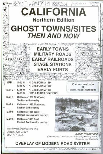 us topo - California, North Ghost;Towns 6 Maps Then & Now - Wide World Maps & MORE! - Book - Wide World Maps & MORE! - Wide World Maps & MORE!