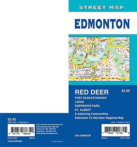 Edmonton / St. Albert / Sherwood Park / Red Deer, Alberta Street Map - Wide World Maps & MORE! - Book - Wide World Maps & MORE! - Wide World Maps & MORE!