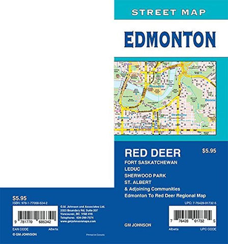 Edmonton / St. Albert / Sherwood Park / Red Deer, Alberta Street Map