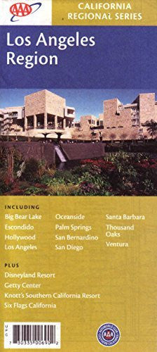 us topo - AAA Los Angeles Region: Big Bear Lake, Escondido, Hollywood, Los Angeles, Oceanside, Palm Springs, San Bernardino, San Diego, Santa Barbara, Thousand Oaks, Ventura, Disneyland, Getty, Knott's, 6 Flags - Wide World Maps & MORE! - Book - Wide World Maps & MORE! - Wide World Maps & MORE!