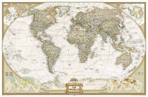 us topo - By National Geographic Maps - Ref World Executive [Enlarged and Laminated] (National Geographic Reference Map) (2012) - Wide World Maps & MORE! - Book - Wide World Maps & MORE! - Wide World Maps & MORE!