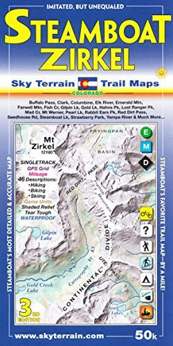 us topo - Steamboat Springs Mount Zirkel Trail Map 3rd Edition - Wide World Maps & MORE! - Book - Sky Terrain - Wide World Maps & MORE!