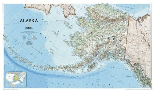 Alaska Wall Map Laminated (Reference - U.S.)