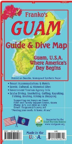 us topo - Guam Map & Dive Guide Franko Maps Waterproof Map - Wide World Maps & MORE! - Book - FrankosMaps - Wide World Maps & MORE!