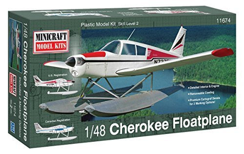 us topo - Minicraft Piper Cherokee Float Plane Airplane Model Kit (1/48 Scale) - Wide World Maps & MORE! - Hobby - Minicraft - Wide World Maps & MORE!