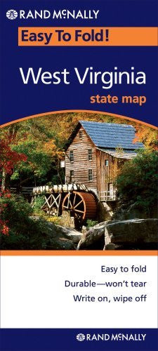Rand McNally Easy To Fold: West Virginia (Laminated) (Rand McNally Easyfinder)