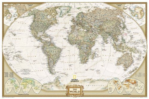 By National Geographic Maps - World Executive, Poster Size, tubed Wall Maps World (7.3.2012)