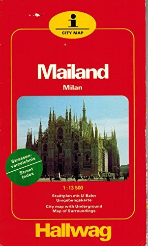 "Milan with Metro City Plan: 1m-3.5"" (I city map) (German Edition)"