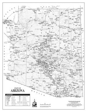 State of Arizona Notebook Map - 50 Count