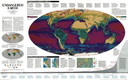 Endangered Earth Wall Map (tubed) (Reference - History & Nature) - Wide World Maps & MORE! - Book - Wide World Maps & MORE! - Wide World Maps & MORE!