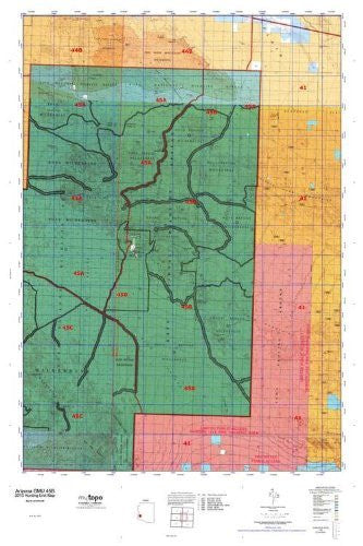 us topo - Arizona GMU 45B Hunt Area / Game Management Units (GMU) Map - Wide World Maps & MORE! - Book - Wide World Maps & MORE! - Wide World Maps & MORE!