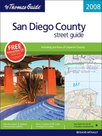 The Thomas Guide 2008 San Diego County, California: Street Guide (Thomas Guides)