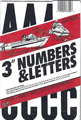 "3"" Numbers & Letters"