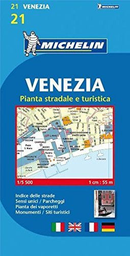 Michelin Map Venice/Mestre (Venezia) #21 (Maps/City (Michelin)) (Italian Edition)