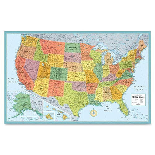 us topo - Rand Mcnally USA Wall Map (RAN528959999) - Wide World Maps & MORE! - Office Product - Rand McNally - Wide World Maps & MORE!