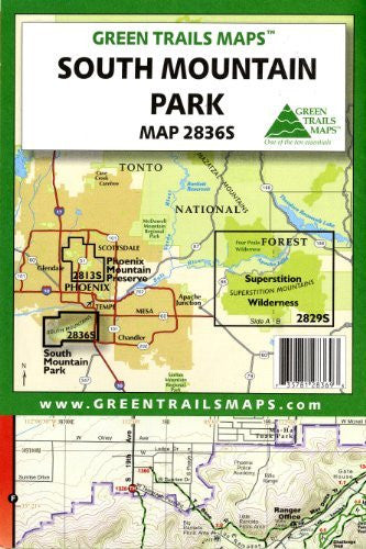 South Mountain Park (Waterproof) (Green Trails Maps, Map 2836S)