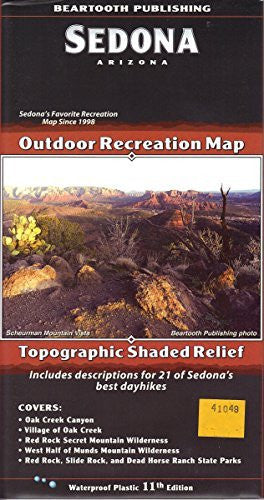 us topo - Sedona Outdoor Recreation Map Topographic Shaded Relief - Wide World Maps & MORE! - Book - Wide World Maps & MORE! - Wide World Maps & MORE!