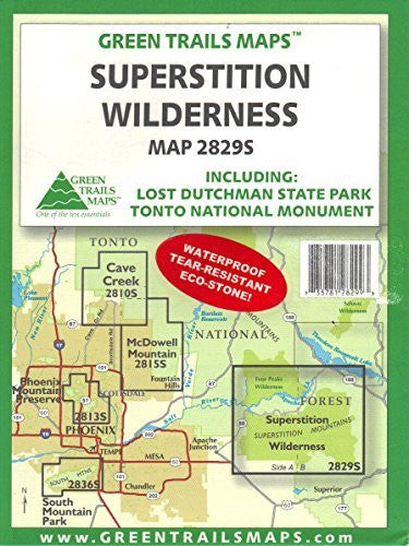 Superstition Wilderness: Including Lost Dutchman State Park and Tonto National Monument (2829S) Waterproof