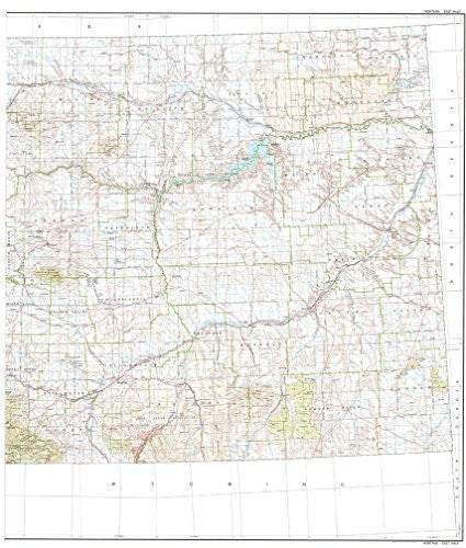us topo - State of Montana East Half Base Map with Highways and Contours - Wide World Maps & MORE! - Book - Wide World Maps & MORE! - Wide World Maps & MORE!