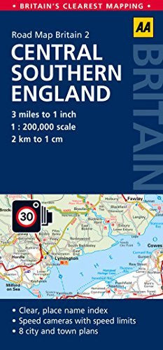 Central Southern England Road Map (AA GB2) (Aa Road Map Britain) - Wide World Maps & MORE! - Book - Wide World Maps & MORE! - Wide World Maps & MORE!