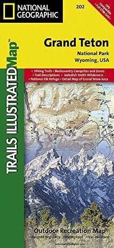 us topo - Grand Teton National Park (National Geographic Trails Illustrated Map) - Wide World Maps & MORE! - Book - Nat Geo - Wide World Maps & MORE!