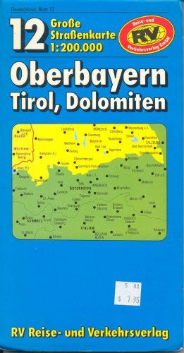 Map 12 Grosse Strassenkarte Oberbayern Tirol, Dolomiten - Wide World Maps & MORE! - Book - Wide World Maps & MORE! - Wide World Maps & MORE!