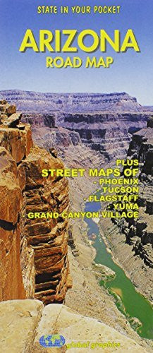 us topo - Arizona Road map - Wide World Maps & MORE! - Book - Global Graphics - Wide World Maps & MORE!
