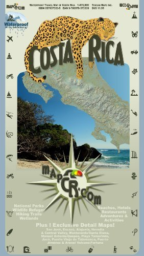 Costa Rica: Waterproof Travel Map of Costa Rica - Wide World Maps & MORE! - Book - Wide World Maps & MORE! - Wide World Maps & MORE!