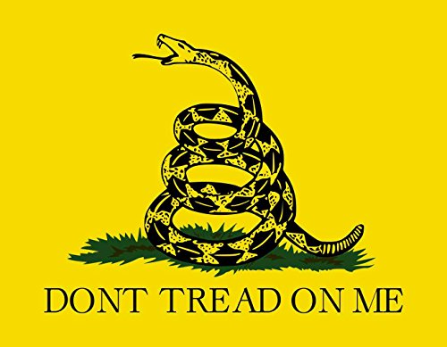 StickerTalk 9in x 7in Gadsden Flag Vinyl Sticker Dont Tread On Me Snake Decal - Wide World Maps & MORE! - Automotive Parts and Accessories - StickerTalk - Wide World Maps & MORE!
