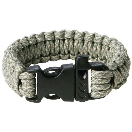 "Maxam Digital Paracord Bracelet with Whistle Buckle, 9"", Camo"
