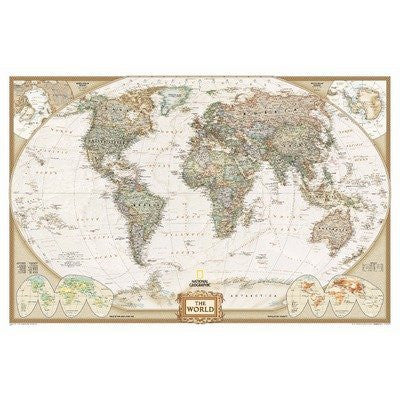 National Geographic RE00622085 World Executive Map