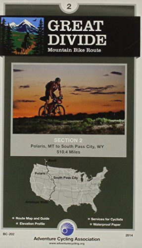 us topo - Great Divide Mountain Bike Route #2: Polaris, Montana - South Pass City, Wyoming (510 Miles) - Wide World Maps & MORE! - Book - Wide World Maps & MORE! - Wide World Maps & MORE!