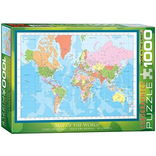 us topo - EuroGraphics Modern Map of the World Puzzle (1000-Piece) - Wide World Maps & MORE! - Toy - EuroGraphics - Wide World Maps & MORE!