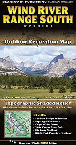 us topo - Wind River Mountains Topographic Map - Southern Half - Wide World Maps & MORE! - Sports - Beartooth Publishing - Wide World Maps & MORE!